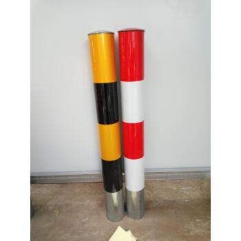 前埋立式踏切柱鋼管警告柱が杭と鉄の柱の衝突を遮断して柱固定杭1200*76*1.8を防止する。